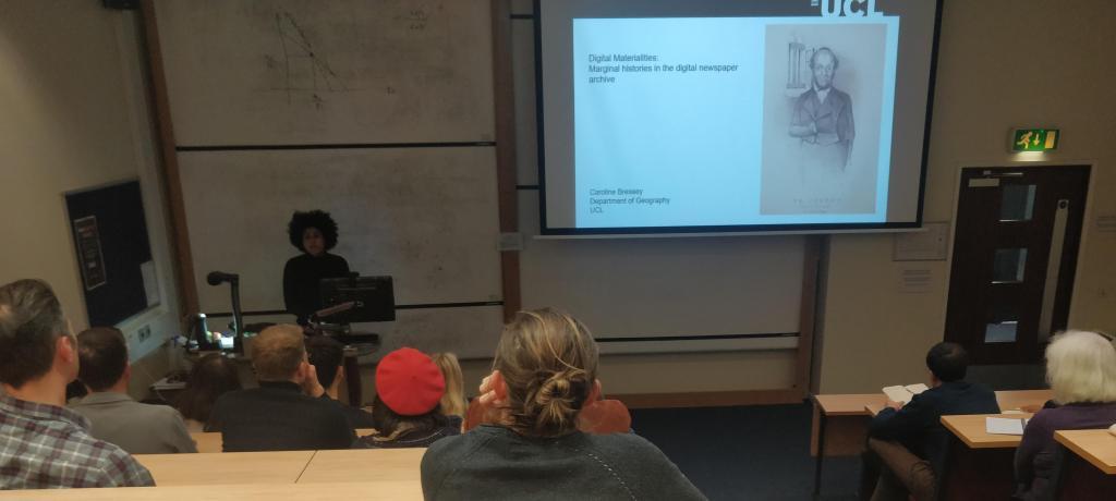 Keynote speaker: Dr Caroline Bressey, UCL