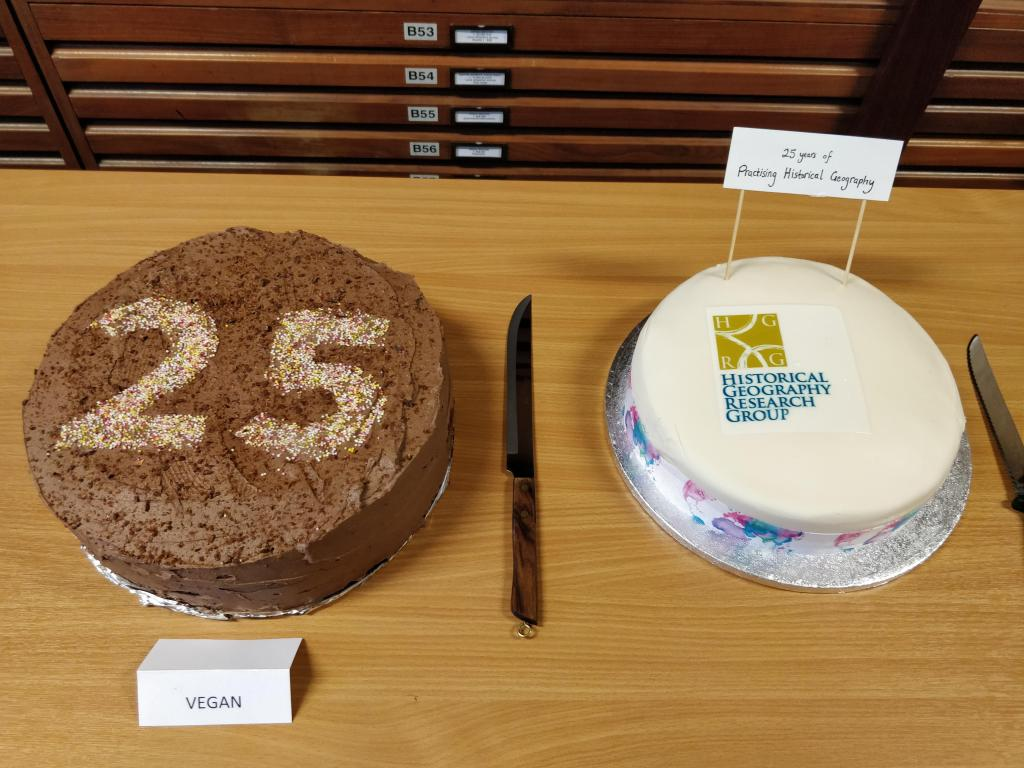 Cakes to celebrate 25 years of HGRG Practising Historical Geography Conferences